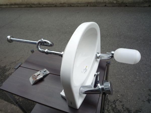 S190418C@L30DM手洗いシンクW410×D330×H700プッシュ水栓★K9