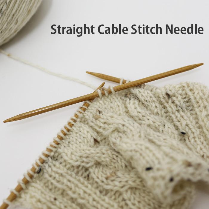 上品 Straight cable 大幅にプライスダウン needle stitch
