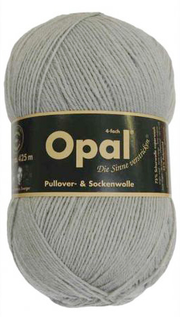 Opal 靴下用毛糸 Uni 5193 / グレー