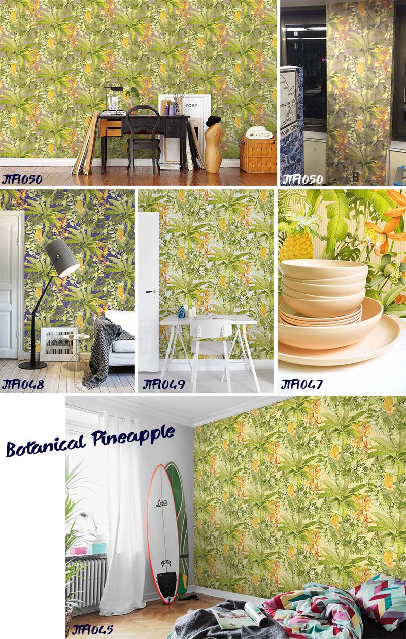 Peel Off The Wallpaper Botanical Pineapple Botanical Painaplvries Digital  Print Wallpaper, Wallpaper Wallpaper Jebrille Wallpaper