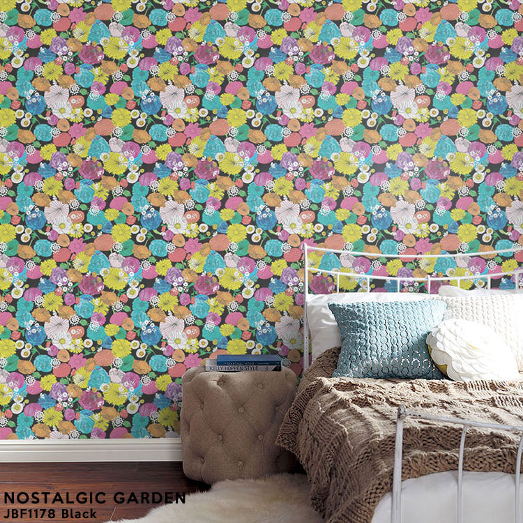 Wallpapers Peel Off And Stick Wallpaper Sas Yosh Floral Flower Fleece Digital Print