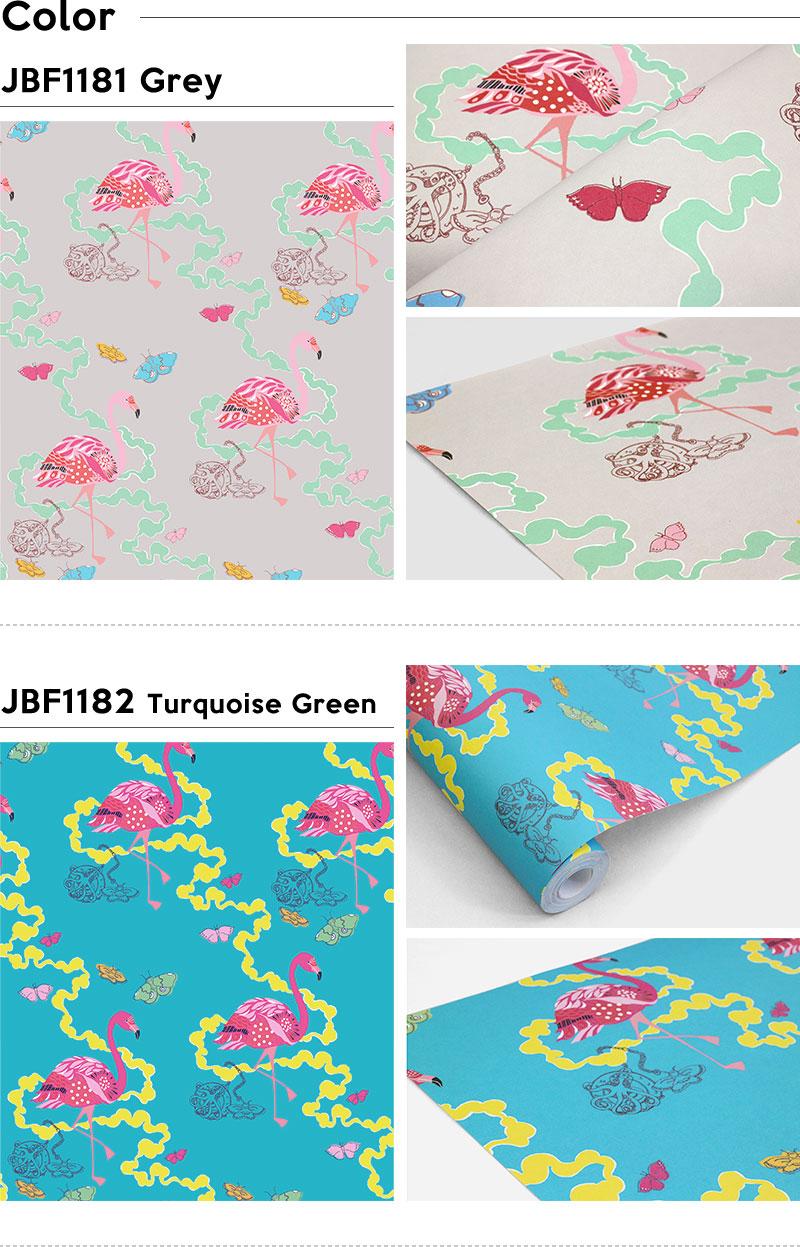 Wallpapers Peel Off Peel Off The Wallpaper Sas And Yosh Flamingo Fleece  Digital Print Wallpaper Jebrille