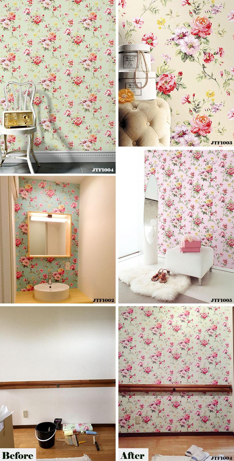 Wallpaper Flower Rose Frees Digital Print Wallpaper Wallpaper Paste, Peel  Off Peel Off Wallpaper Jebrille