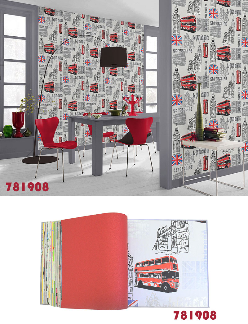 Imported Wallpaper Rasch Rush Fleece Nonwoven Fabric Wallpapers Made In Germany