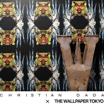CHRISTIAN DADA 壁紙 THE WALLPAPER TOKYO アンティーク ヴィンテージ 手 骨 バイオマーク フリース壁紙 フリースデジタルプリント壁紙 デジタルプリント壁紙 貼って剥がせる 賃貸OK 日本製(46cmx10m)