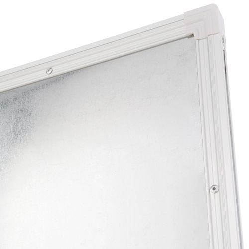 片面脚付きホーローホワイトボード W1200×H905mm 片面無地 横幅 琺瑯 ボード 白板 回転式 足 脚付き キャスター付き マグネット対応 トレイ付き イレーザー付き パネル パーテーション ホワイトボード 無地 幅 120cm ホーロー オフィス家具【安】(269330)