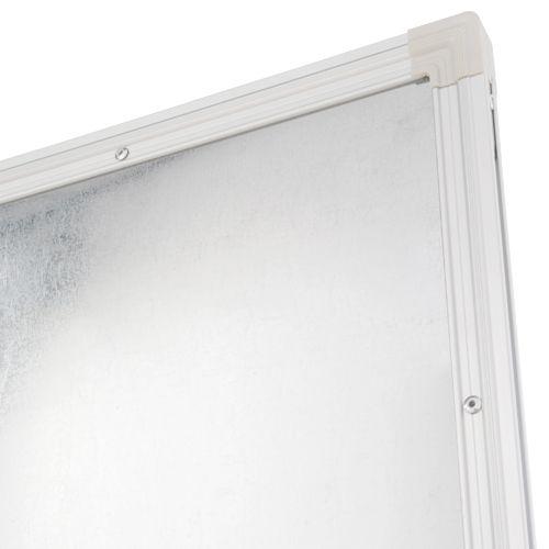 片面L字脚ホワイトボード W1800×H905mm 片面 無地 L字 鋼板 白板 足 脚付き 省スペース パネル パーテーション ホワイトボード マグネット対応 アジャスター付き イレーザー付き 粉受けトレイ付き 壁面利用 横幅 180cm スチール オフィス家具【安】(269309)