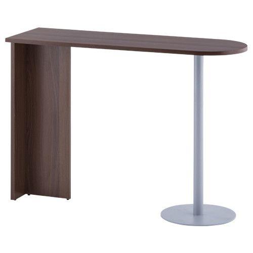 【法人宛限定】ジェイ ハイカウンター専用サイドテーブル W1400×D450×H1000mm テーブル オフィス W140×D45×H100cm 低圧メラミン樹脂化粧木質ボード 【ナチュラルB、ウォルナットA】