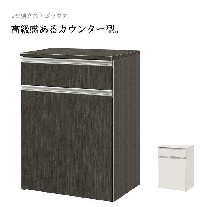 キッチンカウンター ダストボックス ゴミ箱収納 ごみ箱 45リットル 45L 2分別 幅約65cm おしゃれ【スーパーセール】