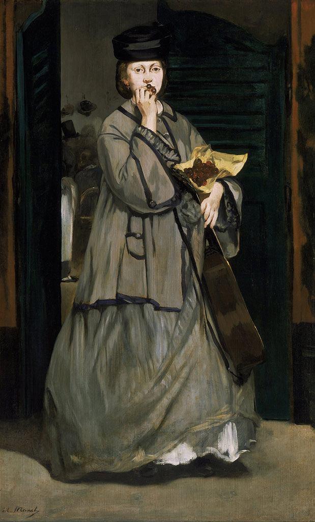 エドゥアール・マネ 街の女歌手 M30サイズ M30号 910x606mm 送料無料 絵画 インテリア 額入り 壁掛け複製油絵エドゥアール・マネ