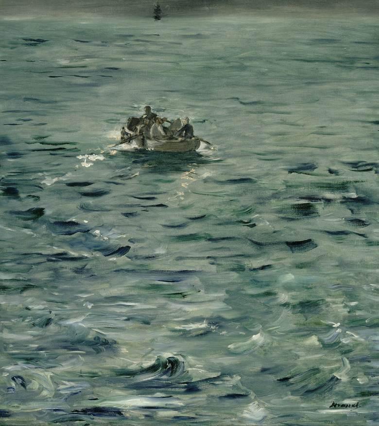 絵画 インテリア 額入り 壁掛け複製油絵エドゥアール・マネ アンリ・ロシュフォールの逃亡 F15サイズ F15号 652x530mm 油彩画 複製画 選べる額縁 選べるサイズ