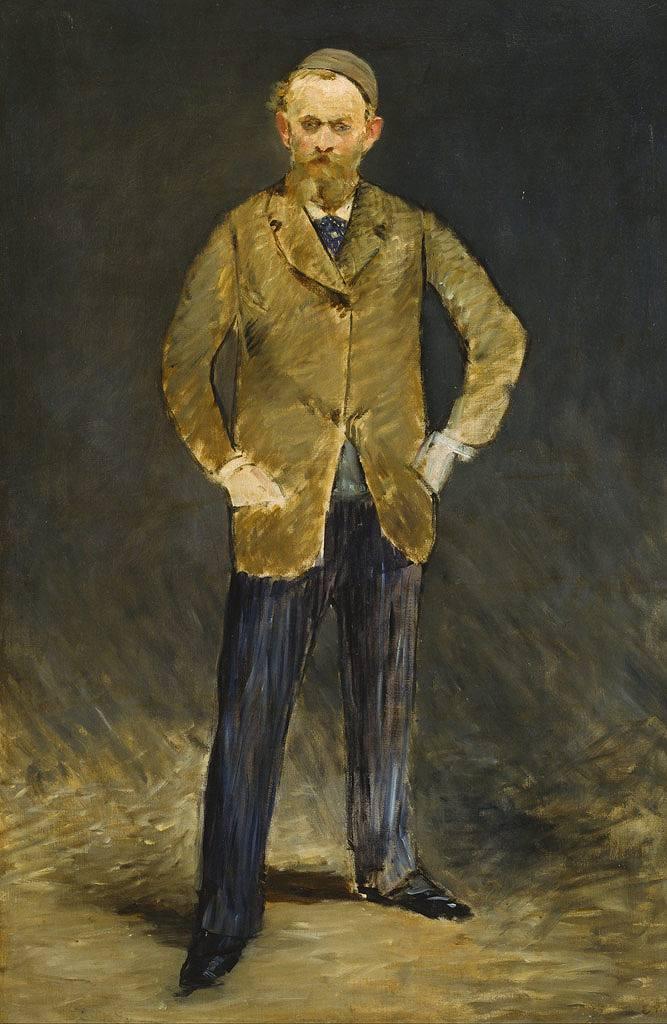 油絵 油彩画 絵画 複製画 エドゥアール・マネ 自画像 M10サイズ M10号 530x333mm すぐに飾れる豪華額縁付きキャンバス