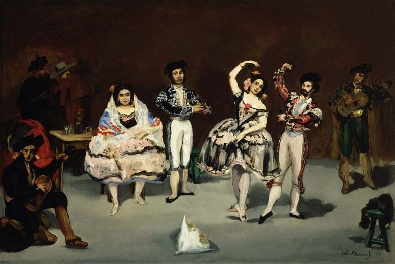 エドゥアール・マネ スペインバレエ M30サイズ M30号 910x606mm 絵画 インテリア 額入り 壁掛け複製油絵エドゥアール・マネ