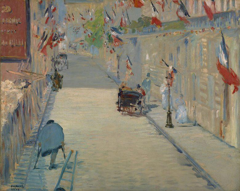油絵 油彩画 絵画 複製画 エドゥアール・マネ モスニエール通り F10サイズ F10号 530x455mm すぐに飾れる豪華額縁付きキャンバス