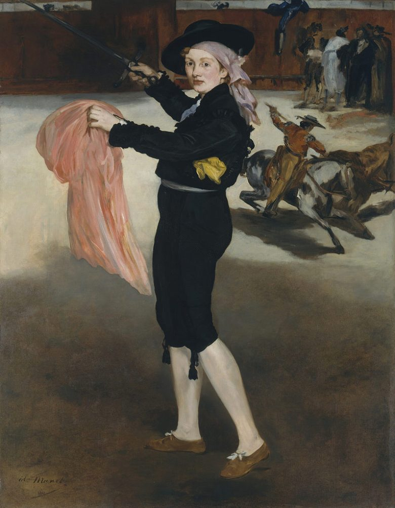 エドゥアール・マネ 闘牛士の扮装をしたヴィクトリーヌ嬢 F30サイズ F30号 910x727mm 送料無料  額縁付絵画 インテリア 額入り 壁掛け複製油絵エドゥアール・マネ