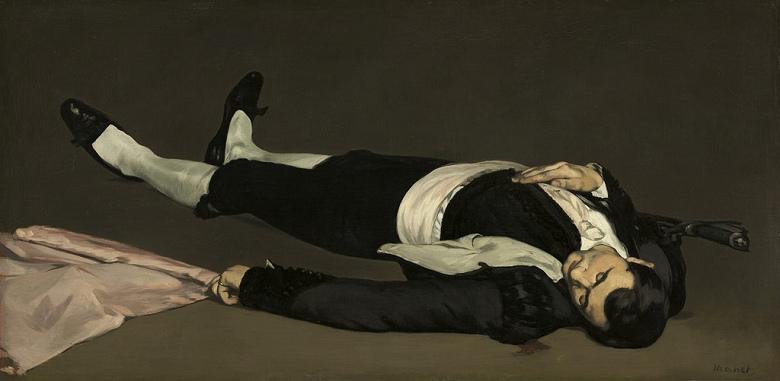 エドゥアール・マネ 闘牛士の死 F30サイズ F30号 910x727mm 送料無料  額縁付絵画 インテリア 額入り 壁掛け複製油絵エドゥアール・マネ