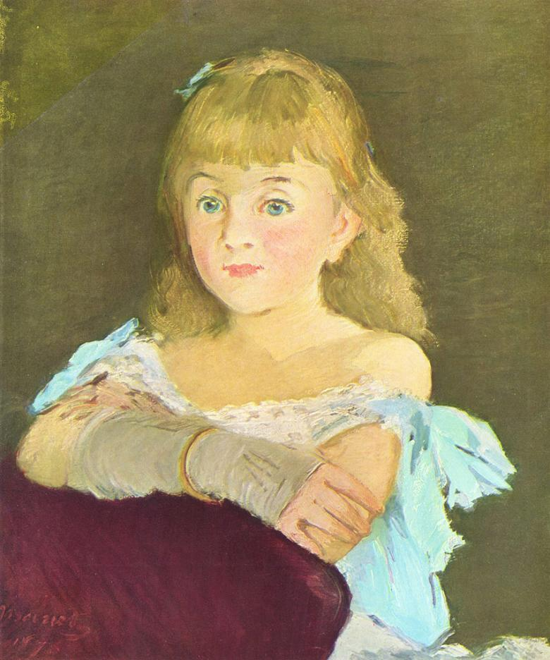 エドゥアール・マネ 少女の肖像画 F30サイズ F30号 910x727mm 送料無料  額縁付絵画 インテリア 額入り 壁掛け複製油絵エドゥアール・マネ