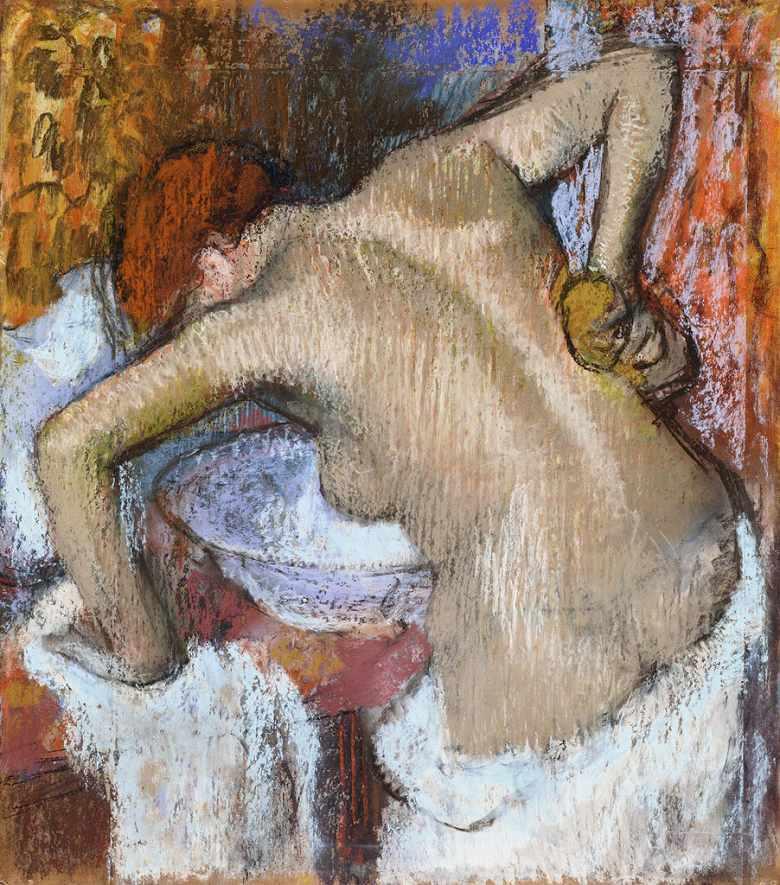 油絵 エドガー・ドガ 背中を拭く女 F12サイズ F12号 606x500mm 油彩画 絵画 複製画 選べる額縁 選べるサイズ
