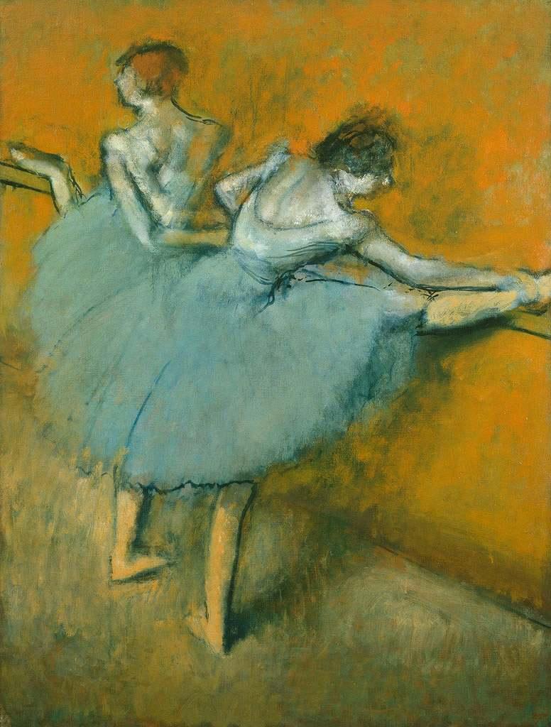 油絵 エドガー・ドガ バレエの踊り子 P12サイズ P12号 606x455mm 油彩画 絵画 複製画 選べる額縁 選べるサイズ