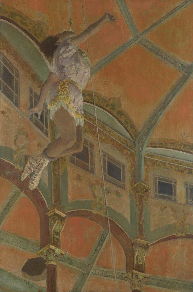 油絵 エドガー・ドガ フェルナンド座のララ嬢 M12サイズ M12号 606x410mm 油彩画 絵画 複製画 選べる額縁 選べるサイズ