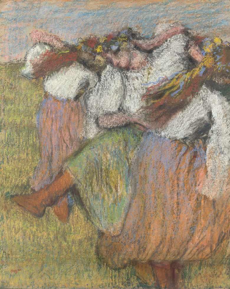 油絵 エドガー・ドガ ロシアの踊り子 F12サイズ F12号 606x500mm 油彩画 絵画 複製画 選べる額縁 選べるサイズ