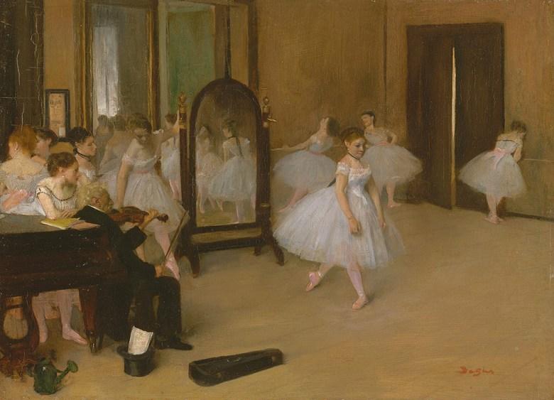 油絵 エドガー・ドガ ダンス教室 P12サイズ P12号 606x455mm 油彩画 絵画 複製画 選べる額縁 選べるサイズ