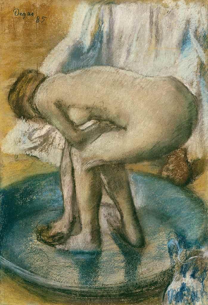絵画 インテリア 額入り 壁掛け複製油絵エドガー・ドガ 浴盤で入浴する女性 P15サイズ P15号 652x500mm 油彩画 複製画 選べる額縁 選べるサイズ