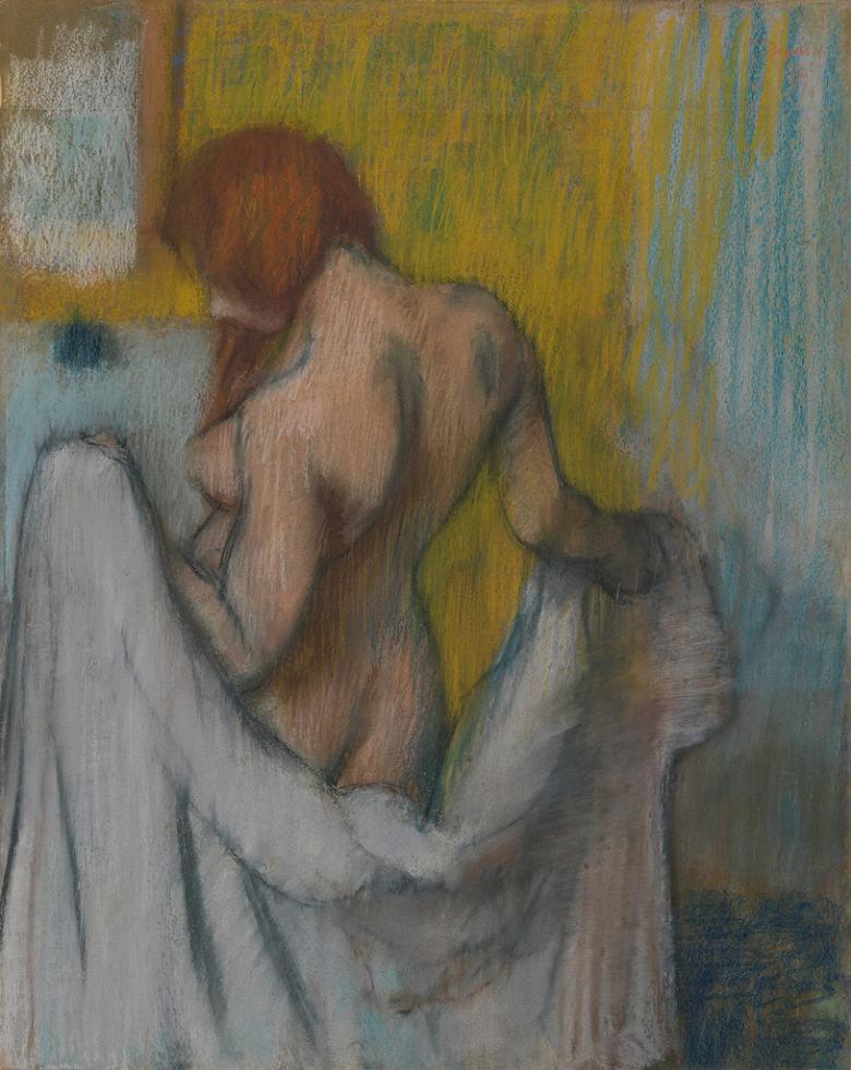 油絵 エドガー・ドガ タオルと女性 F12サイズ F12号 606x500mm 油彩画 絵画 複製画 選べる額縁 選べるサイズ