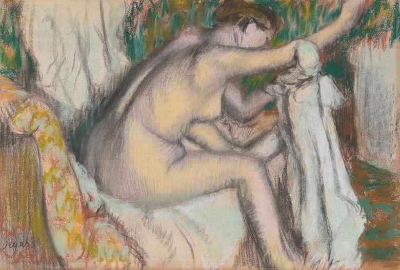 エドガー・ドガ 腕を拭く女性 P30サイズ P30号 910x653mm 送料無料 絵画 インテリア 額入り 壁掛け複製油絵エドガー・ドガ