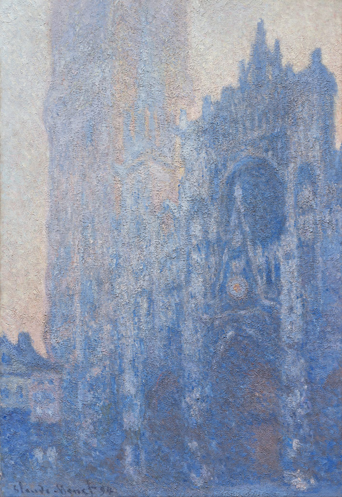 【送料無料】絵画 油彩画複製油絵複製画/クロード・モネ ルーアン大聖堂(朝の効果) F10サイズ 686x611mm 【すぐに飾れる豪華額縁付 キャンバス】