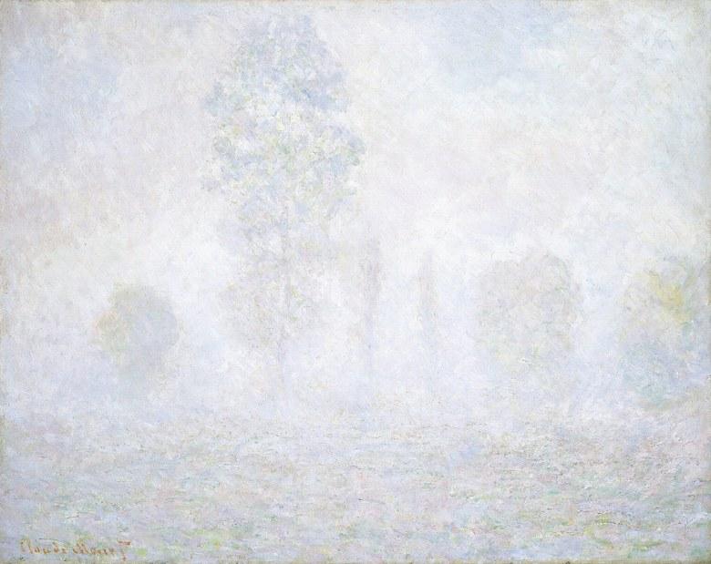 油絵 油彩画 絵画 複製画 クロード・モネ 朝靄 F10サイズ F10号 530x455mm すぐに飾れる豪華額縁付きキャンバス
