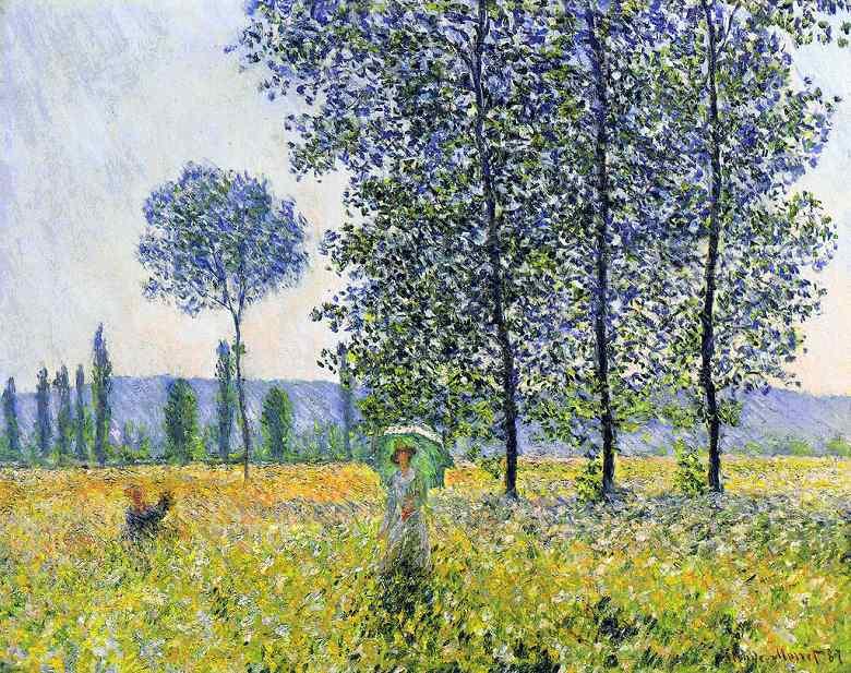 油絵 油彩画 絵画 複製画 クロード・モネ ポプラ(日光の効果) F10サイズ F10号 530x455mm すぐに飾れる豪華額縁付きキャンバス