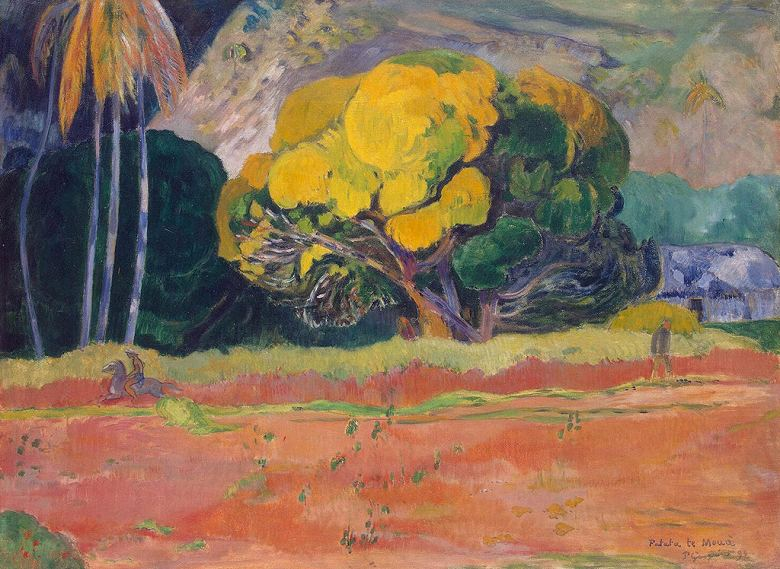 油絵 ポール・ゴーギャン ファタタ・テ・モウア(山のふもと) P12サイズ P12号 606x455mm 油彩画 絵画 複製画 選べる額縁 選べるサイズ