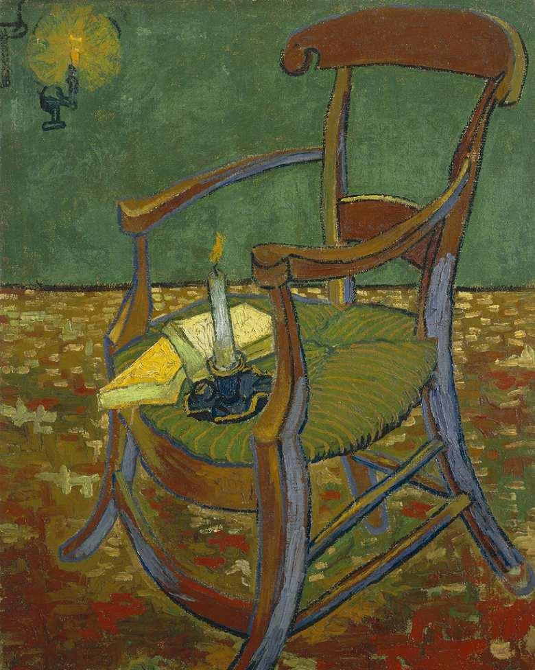 【送料無料】絵画 油彩画複製油絵複製画/ゴッホ ゴーギャンの肘掛け椅子 F12サイズ 762x656mm 【すぐに飾れる豪華額縁付 キャンバス】