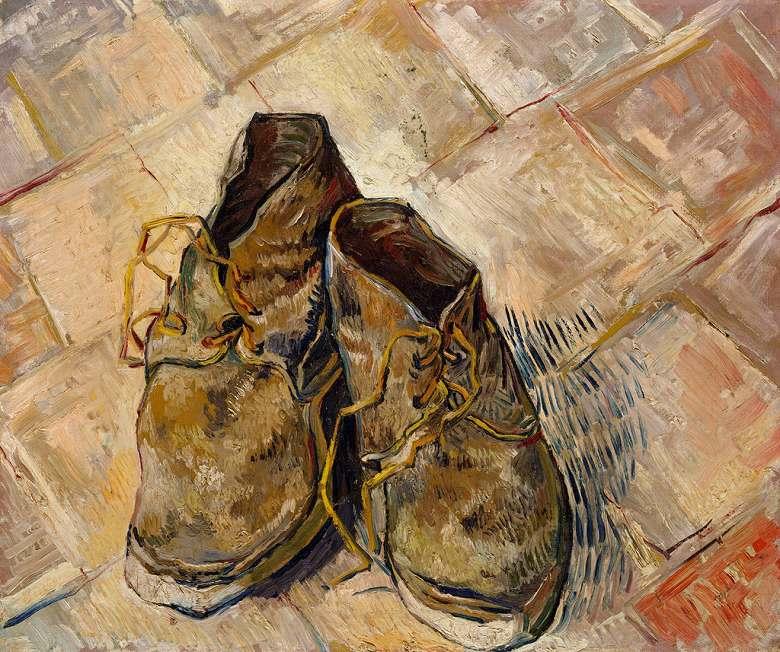 【条件付き送料無料】絵画 油彩画複製油絵複製画/ゴッホ 1足の靴 F30サイズ 1066x883mm 【条件付き送料無料  額縁付 キャンバス】