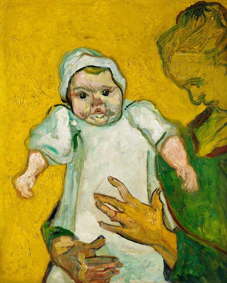 【条件付き送料無料】絵画 油彩画複製油絵複製画/ゴッホ ルーラン夫人と赤ん坊 F30サイズ 1066x883mm 【条件付き送料無料  額縁付 キャンバス】
