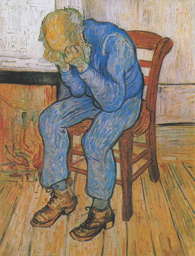 【条件付き送料無料】絵画 油彩画複製油絵複製画/ゴッホ 悲しむ老人(永遠の門) F30サイズ 1066x883mm 【条件付き送料無料  額縁付 キャンバス】