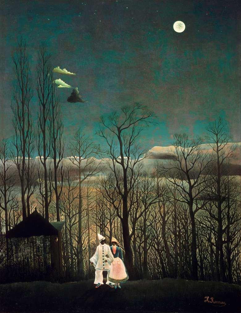 絵画 インテリア 額入り 壁掛け複製油絵アンリ・ルソー カーニバルの晩 F15サイズ F15号 652x530mm 油彩画 複製画 選べる額縁 選べるサイズ