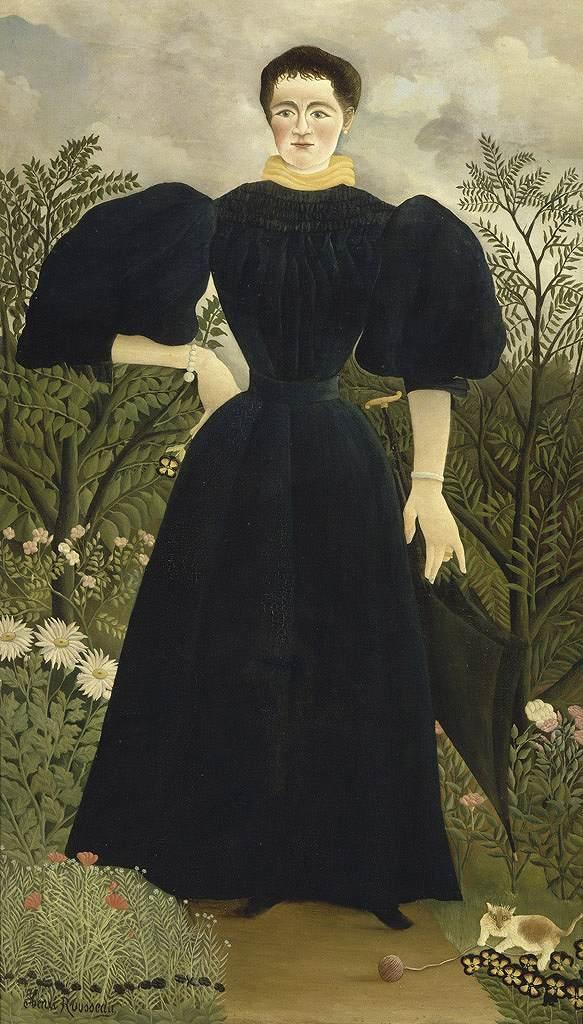 アンリ・ルソー M夫人の肖像 F30サイズ F30号 910x727mm 送料無料  額縁付絵画 インテリア 額入り 壁掛け複製油絵アンリ・ルソー
