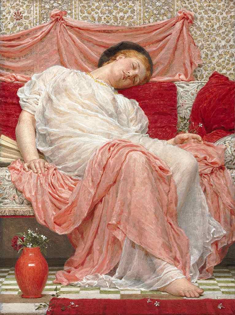 油絵 油彩画 絵画 複製画 アルバート・ジョゼフ・ムーア ジャスミン P10サイズ P10号 530x410mm すぐに飾れる豪華額縁付きキャンバス