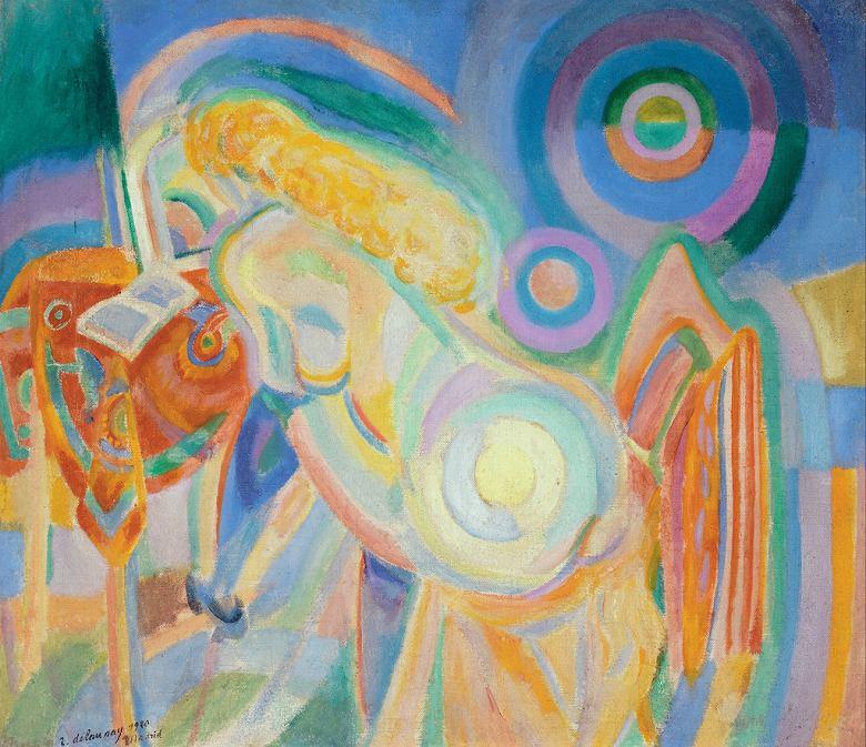 絵画 インテリア 額入り 壁掛け複製油絵 ロベール・ドローネー 本を読む裸体の女性 F20サイズ F20号 727x606mm 絵画 インテリア 額入り 壁掛け 油絵