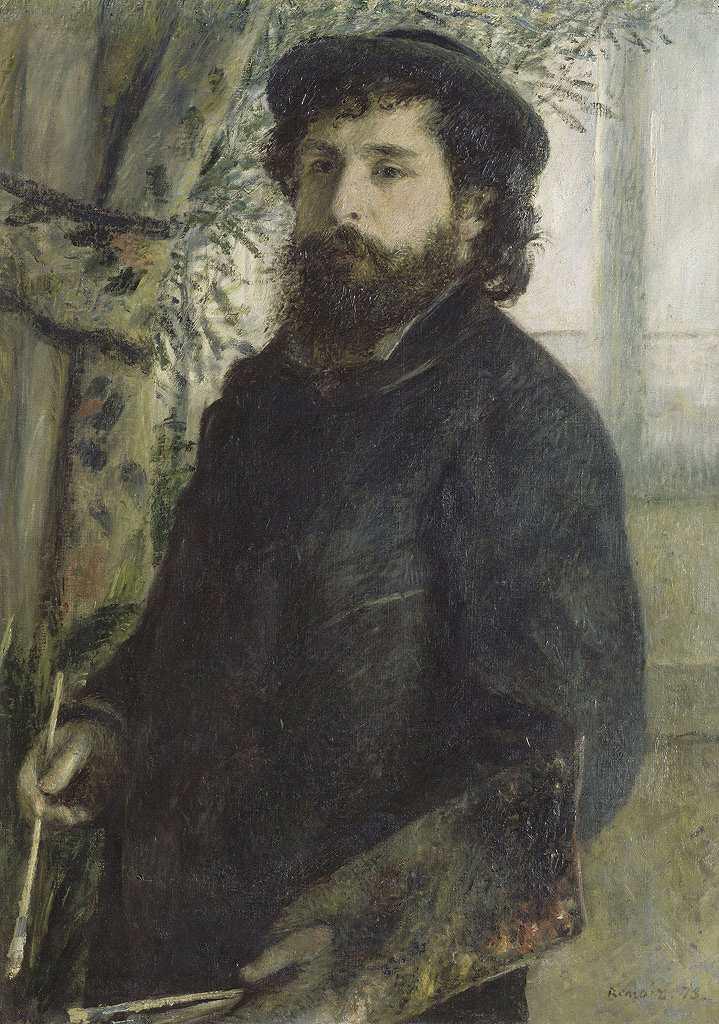 ピエール=オーギュスト・ルノワール クロード・モネの肖像 P30サイズ P30号 910x653mm 送料無料 絵画 インテリア 額入り 壁掛け複製油絵ピエール=オーギュスト・ルノワール