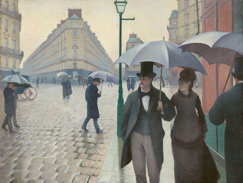 絵画 インテリア 額入り 壁掛け 油絵 ギュスターヴ・カイユボット パリの通り、雨 P15サイズ P15号 652x500mm 油彩画 複製画 選べる額縁 選べるサイズ