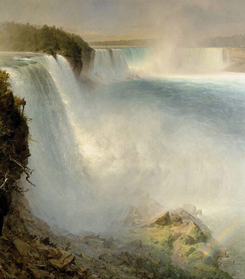 絵画 インテリア 額入り 壁掛け複製油絵 フレデリック・エドウィン・チャーチ ナイアガラの滝 F15サイズ F15号 652x530mm 油彩画 複製画 選べる額縁 選べるサイズ