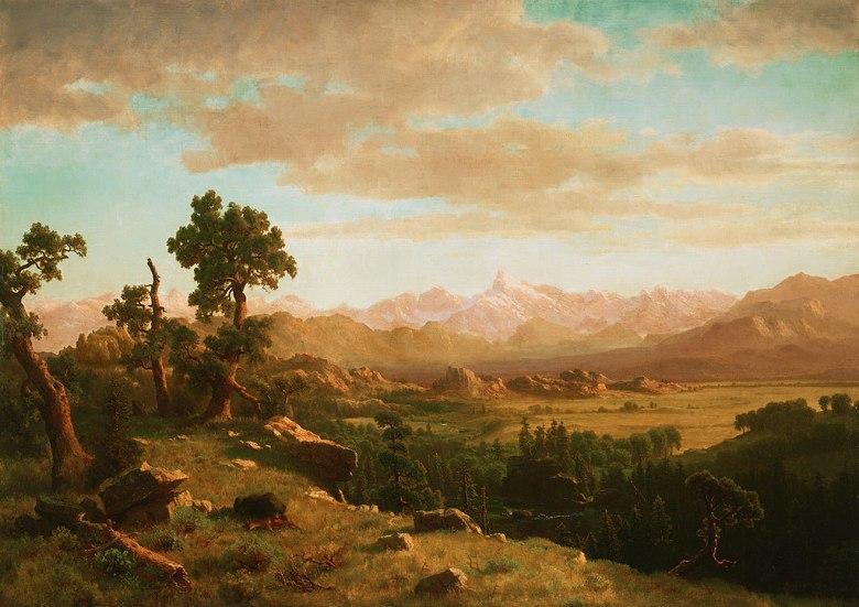 絵画 インテリア 額入り 壁掛け複製油絵アルバート・ビアスタット ウィンド川の風景 P20サイズ P20号 727x530mm 絵画 インテリア 額入り 壁掛け 油絵