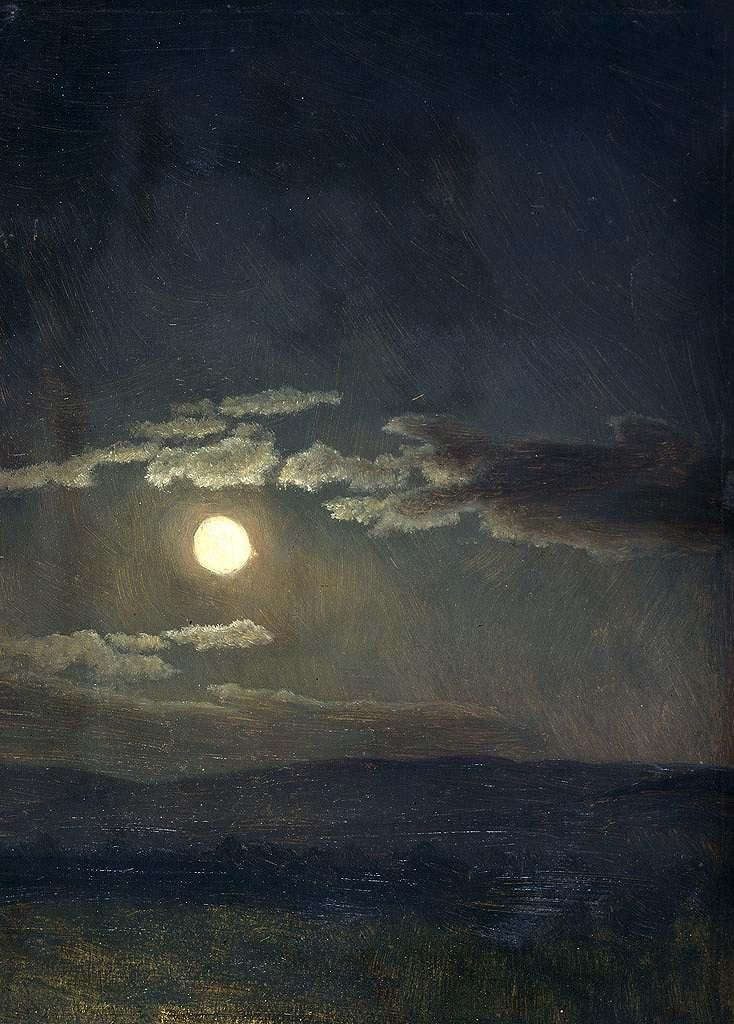 【送料込】 絵画 インテリア 額入り 壁掛け複製油絵アルバート・ビアスタット 雲の習作、月光 P20サイズ P20号 727x530mm 絵画 インテリア 額入り 壁掛け 油絵, アジアンインテリア ループ 2faa2d32