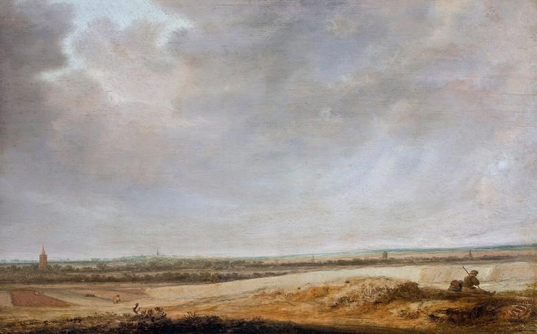油絵 油彩画 絵画 複製画 サロモン・ファン・ロイスダール とうもろこし畑の風景 M10サイズ M10号 530x333mm すぐに飾れる豪華額縁付きキャンバス