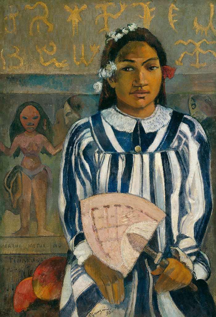 油絵 油彩画 絵画 複製画 ポール・ゴーギャン メラヒ・マトゥエ・ノ・テハマナ(テハマナの祖先) P10サイズ P10号 530x410mm すぐに飾れる豪華額縁付きキャンバス