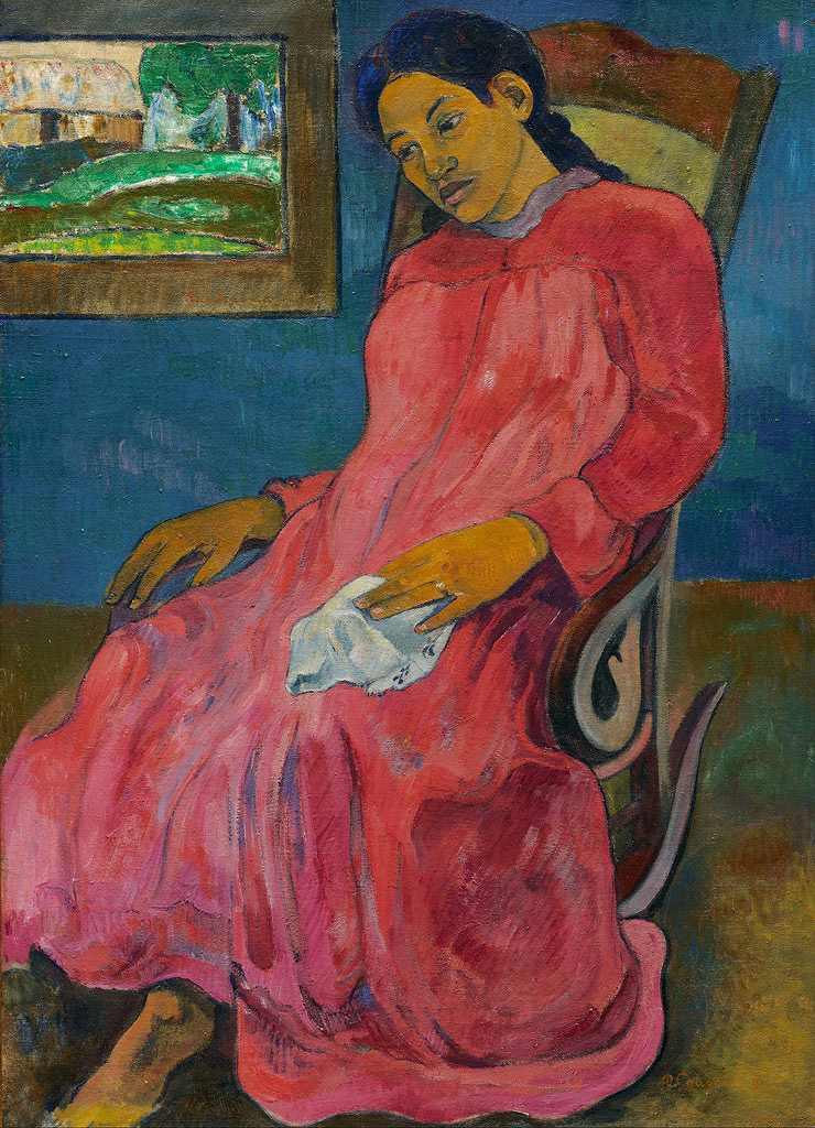 絵画 インテリア 額入り 壁掛け複製油絵 ポール・ゴーギャン 憂鬱 P15サイズ P15号 652x500mm 油彩画 複製画 選べる額縁 選べるサイズ