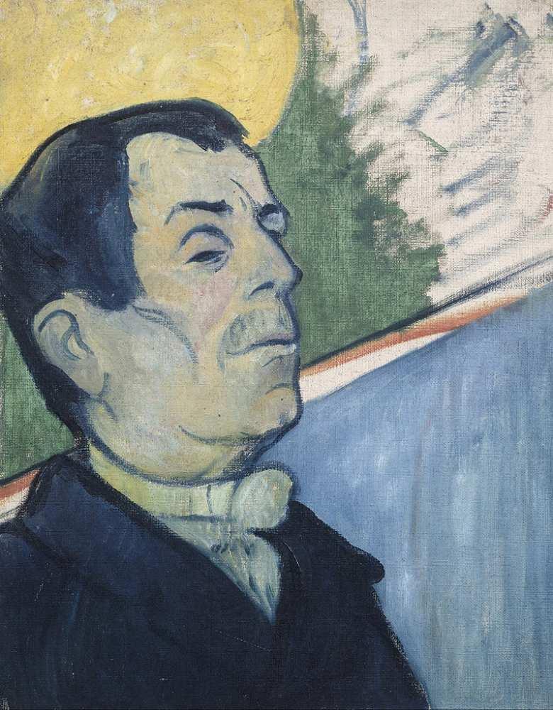 油絵 ポール・ゴーギャン 男の肖像 F12サイズ F12号 606x500mm 油彩画 絵画 複製画 選べる額縁 選べるサイズ
